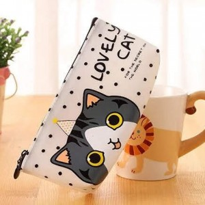 Cartuchera Lovely Cat Punticos 1049 :Ref